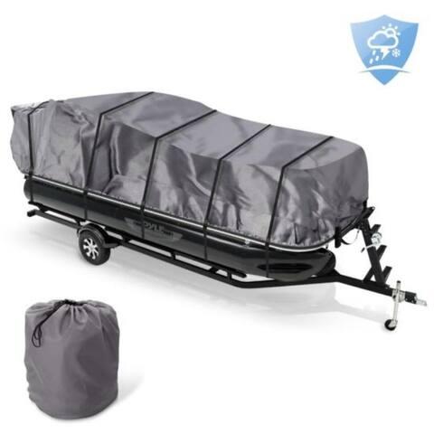 Armor Shield Trailer Pontoon Cover - Universal Cover for Pontoon Boats (for Pontoons 25' - 28' ft. Length)