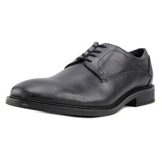 Alfani Greg Men  Round Toe Leather Black Oxford