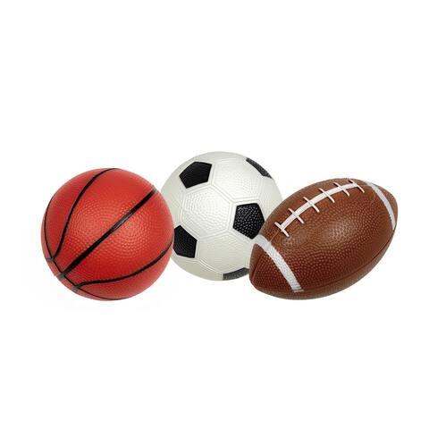 Set of 3 Pebble Textured PVC Sports Water Sports Balls