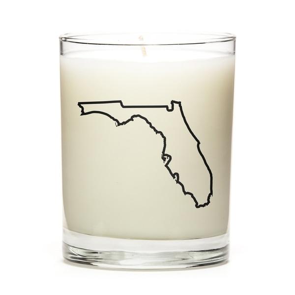 Custom Gift - Map Outline of Florida U.S State, Fine Bourbon