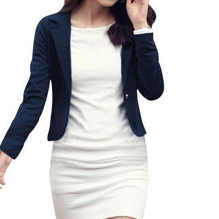 Ladies Long Sleeves One Button Autumn Blazer