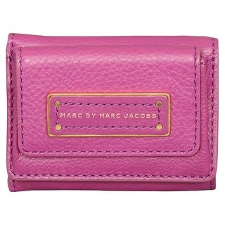 Marc by Marc Jacobs Too Hot to Handle Purple Leather Compact Trifold Wallet