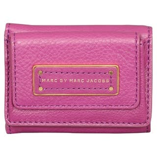 Marc by Marc Jacobs Too Hot to Handle Purple Leather Compact Trifold Wallet 461edaf27eed