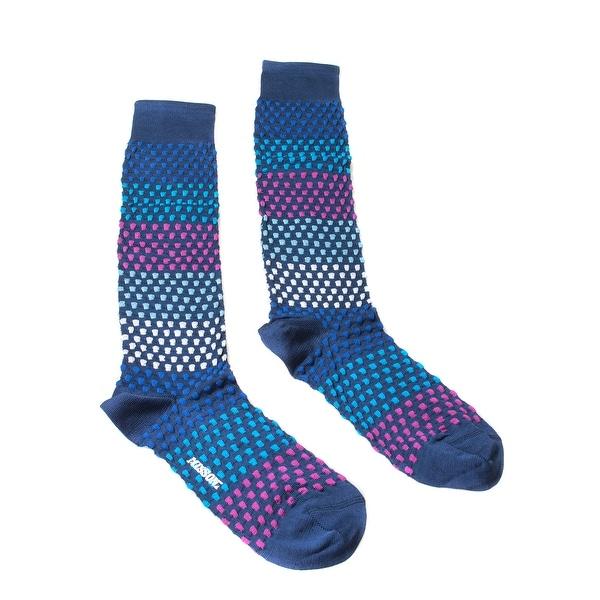 Missoni GM00CMU5443 0001 Blue/Fuschia Knee Length Socks - S