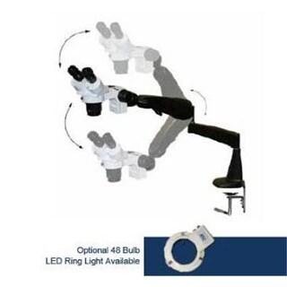 LW Scientific DM 20x-40x Dual Mag Stereoscope on Pneu-Flex Arm