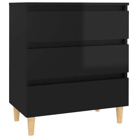 "vidaXL Sideboard High Gloss Black 23.6""x13.8""x27.2"" Chipboard"