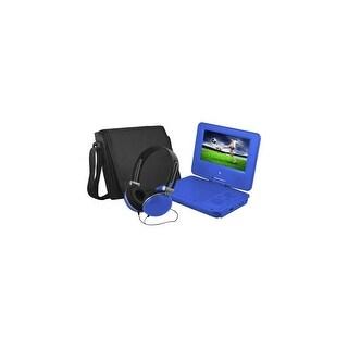 Ematic EPD707BU Ematic EPD707 Portable DVD Player - 7 Display - 480 x 234 - Blue - DVD-R, CD-R - JPEG - DVD Video, Video