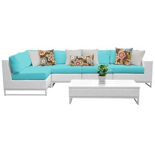 Florida 6-Piece Aluminum Framed Outdoor Conversation Set with Coffee Table