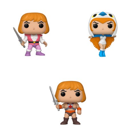 Funko POP! Animation Masters of the Universe Collectors Set 1 - Prince Adam, Sorceress, He-Man