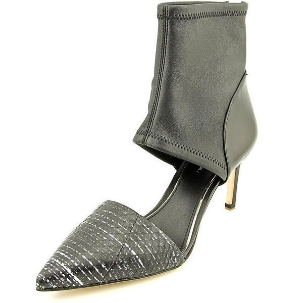 Elie Tahari Dell Women Pointed Toe Leather Black Heels