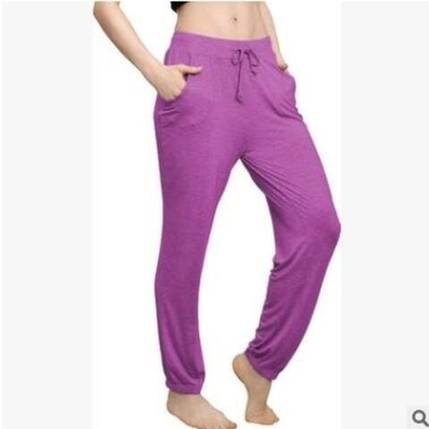 Casual Pajama Pants Drawstring Wide Leg Lounge Pants