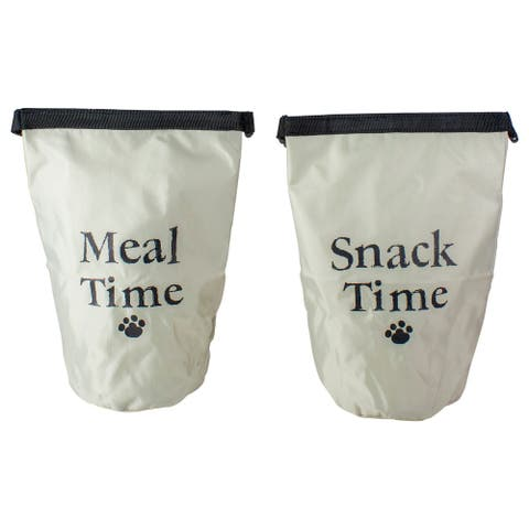 Set of 2 Portable Pet Snack and Food Treat Pouch Bags
