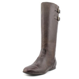 Enzo Angiolini Zarynn Women Round Toe Leather Brown Knee High Boot