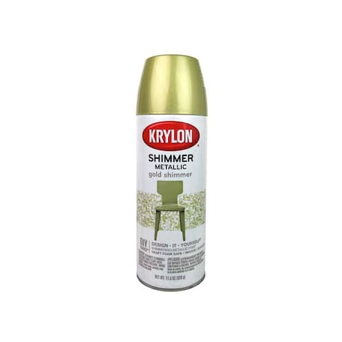 3921 krylon shimmer metallic spray paint 11 5oz gold