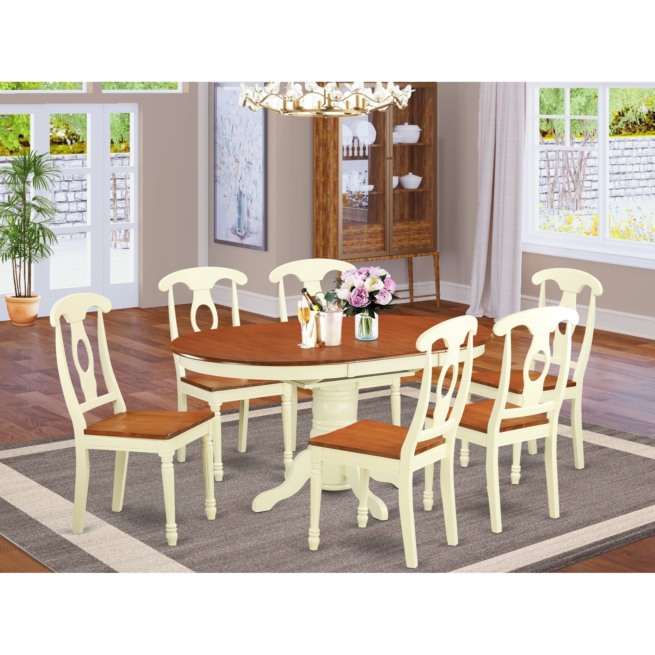 Cucina Letters Kitchen Decor, Shop 7 Piece Oval Dining Table And 6 Dining Chairs Overstock 10296450