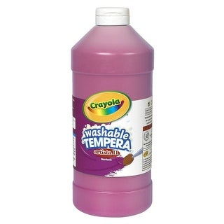 Crayola Artista II Non-Toxic Washable Tempera Paint, 1 qt Squeeze Bottle, Magenta