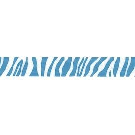 "Zebra Crystal Ribbon 7/8""X9'-Turquoise"
