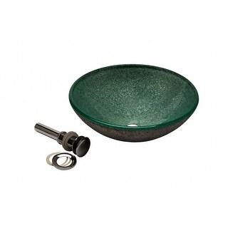 Glass Vessel Sink Hand Paint Bathroom Bowls Silver Galaxy Renovator's Supply