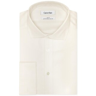 Calvin Klein Mens Dress Shirt Slim Fit French Cuff