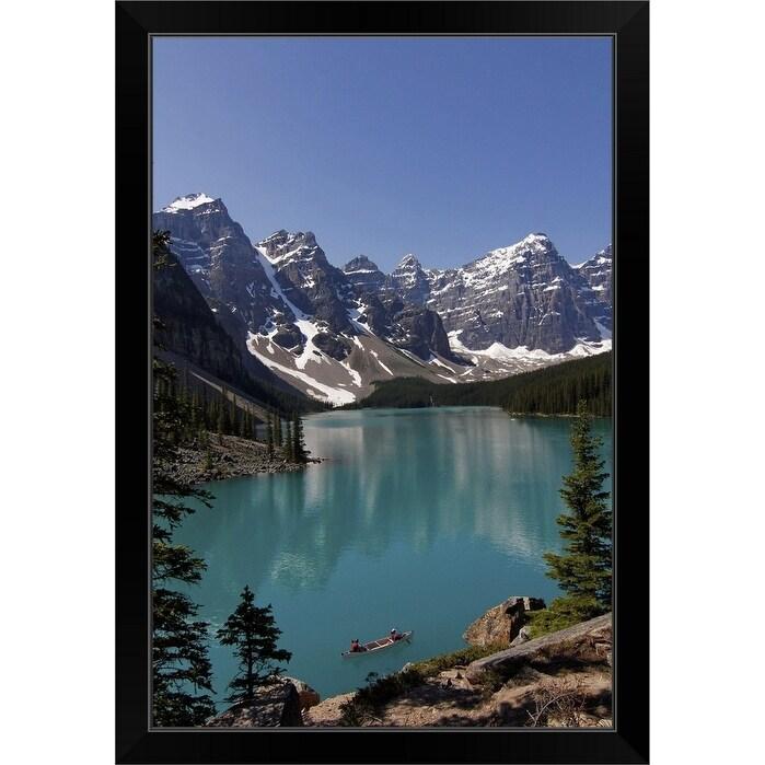 Moraine Lake Banff Nationalpark Alberta Canada Black Framed Print