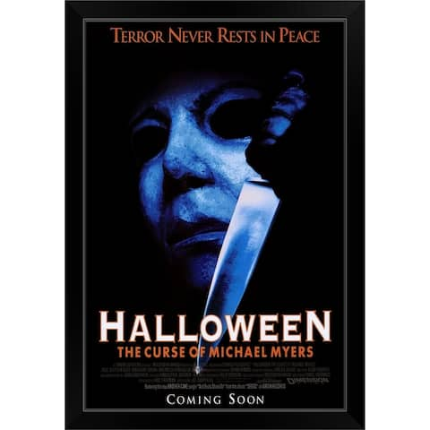 """Halloween 6 The Curse of Michael Myers (1995)"" Black Framed Print"