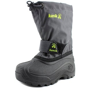 Kamik Snowbound Round Toe Synthetic Snow Boot|https://ak1.ostkcdn.com/images/products/is/images/direct/a0e95641a4be8345256e761cd119055283cdf47a/Kamik-Snowbound-Youth-Round-Toe-Synthetic-Gray-Snow-Boot.jpg?_ostk_perf_=percv&impolicy=medium