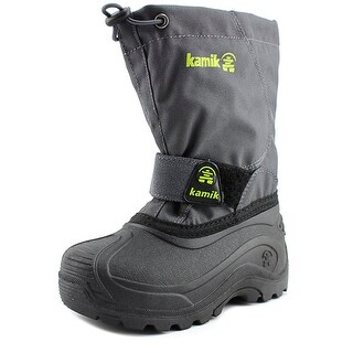 Kamik Snowbound Youth Round Toe Synthetic Gray Snow Boot