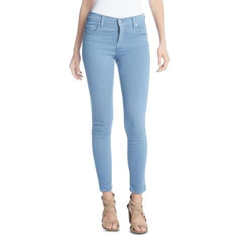 Karen Kane Womens Zuma Jeans Cropped Skinny - Water