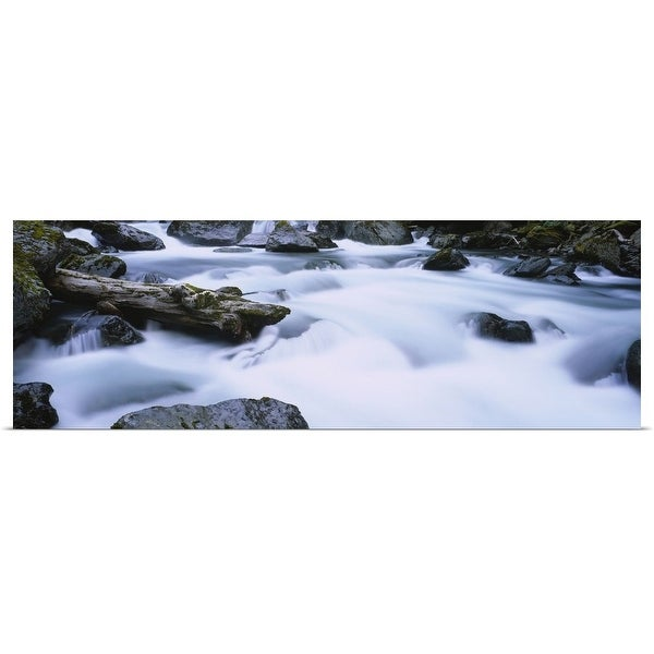 """""""Flowing water, Staircase Falls, Olympic National Park, Washington"""" Poster Print"""