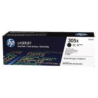 Hewlett Packard CE410XD HP 305X 2-pack High Yield Black Original LaserJet Toner|https://ak1.ostkcdn.com/images/products/is/images/direct/a0ea09ebc7c3c237f775aa9d3a1c340d117b0370/Hewlett-Packard-CE410XD-HP-305X-2-pack-High-Yield-Black-Original-LaserJet-Toner-Cartridges---Laser---High-Yield---4000-Page---2.jpg?_ostk_perf_=percv&impolicy=medium