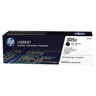 Hewlett Packard CE410XD HP 305X 2-pack High Yield Black Original LaserJet Toner