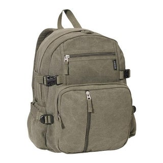 Everest Medium Canvas Backpack Olive - us one size (size none)