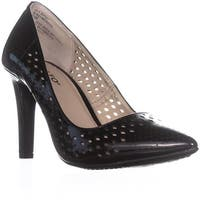 Riatlo Moreen Pointed Toe Slip On Pumps, Black