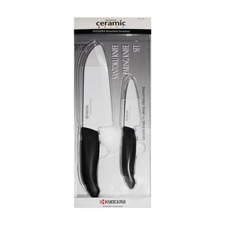 Kyocera FK-2PCCWH4ACE Ceramic Knife Set, 2 Piece