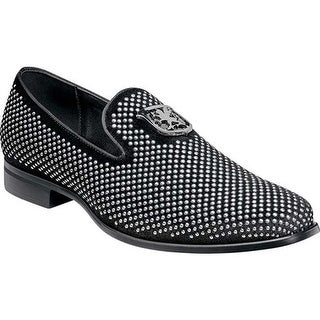 Stacy Adams Men's Swagger Studded Loafer Black/Silver Studded Fabric