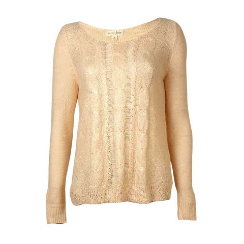 Maison Jules Women's Flecked Cable Knit Sweater