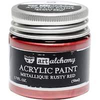 Finnabair Art Alchemy Acrylic Paint 1.7 Fluid Ounces-Metallique Rusty Red