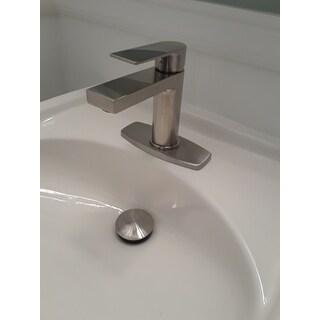 Elite Umbrella Basket Brushed Nickel Luxury Bathroom Sink Pop Up Drain