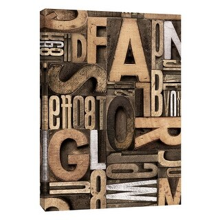 "PTM Images 9-109139  PTM Canvas Collection 10"" x 8"" - ""Silver Letterpress A"" Giclee Alphabet Art Print on Canvas"