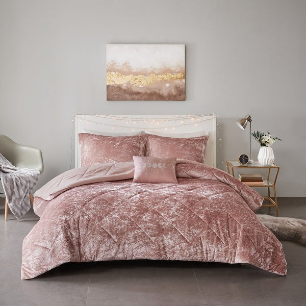 Isabel Velvet Comforter Set by Intelligent Design. Opens flyout.