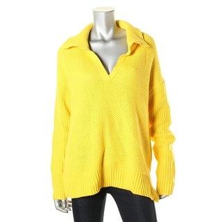 Lauren Ralph Lauren Womens Textured Knit Long Sleeves Pullover Sweater