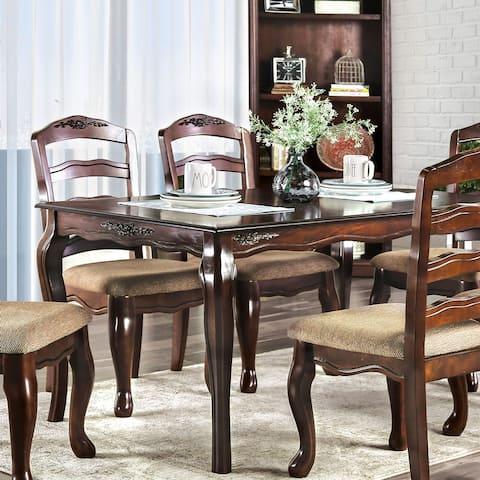 Furniture of America Shak Traditional Dark Walnut Dining Table