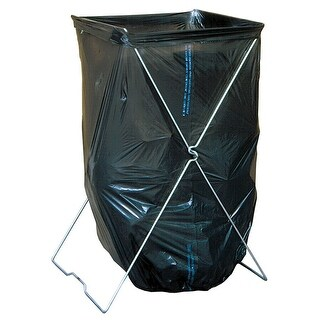 Bag Caddy - Trash Bag Stand - Holds Bags up to 39 Gallon Size - Portable Folding