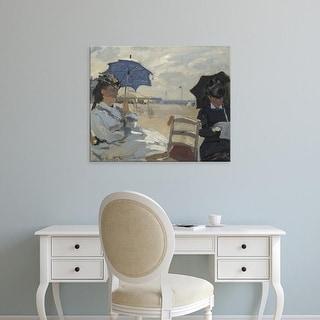 Easy Art Prints Claude Monet's 'The Beach at Trouville' Premium Canvas Art