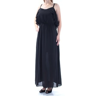 Womens Black Sleeveless Maxi Party Dress Size: 2XS