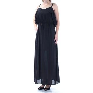 Womens Black Sleeveless Maxi Party Dress Size: M