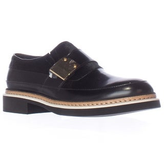 Alexander McQueen Chatsworth Studded Loafers - Black/Black Haircalf
