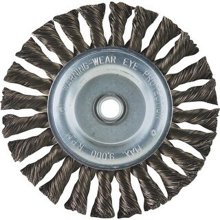 """Weiler Brush 6"""" Knot Wire Wheel 36027 Unit: EACH"""
