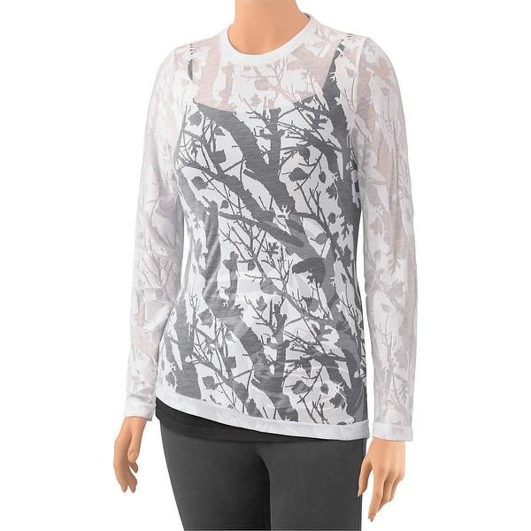 Legendary Whitetails Women's Big Game Camo Burnout Shirt - White