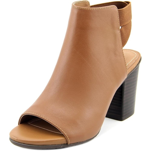 Kenneth Cole Reaction Fridah Fly Women Open-Toe Leather Brown Bootie